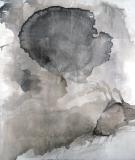 Surface Tension_ink/linen, 178x154cm/70x60in