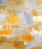 Staining_oil, ink/linen, 178x154cm/70x60in