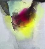 Staining_oil, ink/linen, 154x140cm/60x55in